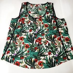 Elodie Sleeveless Floral Top Size XL